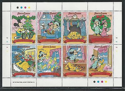 SIERRA LEONE # 1294-1296 MNH DISNEY The Night Before Christmas Miniature Sheets