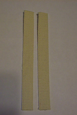"""Lot Of 2 Oil Cotton Wicks For #2 Queen & #2 Eagle Burner 1"""" X 8"""" New 41051J"""