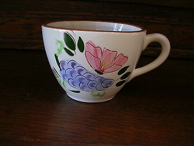 STANGY POTTERY TEA CUP Trenton New Jersey CHINA FRUIT & FLOWERS PORCELAIN