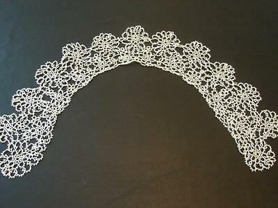 Vintage Antique Lace Beautiful White Handmade Tatted Collar Tatting