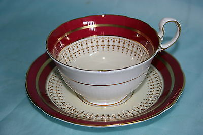 Lovely Aynsley bone china cup saucer set - Red/Beige/White/Gold, Pat.No. 7249