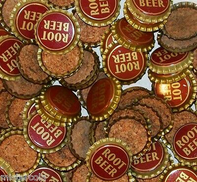Soda pop bottle caps Lot of 25 ROOT BEER #1 cork lined unused new old stock