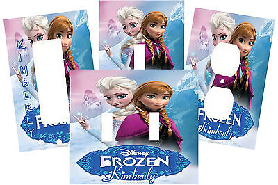 PERSONALIZED FROZEN PRINCESS LIGHT SWITCH PLATE COVER