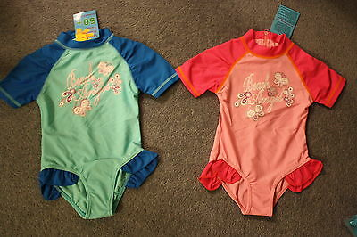 New baby girls rashie ,rash suit,swimsuit bathers swimwear  rashi UPF50+BNWTS