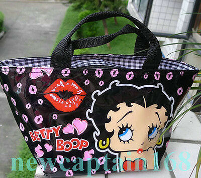 NEW ARRIVAL FANCY BLACK BETTY BOOP~ LADY COMESTIC GIRLS MAKE-UP PURSE HANDBAG