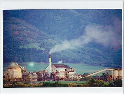 """Waialua Sugar Mill Oahu 1989 Giclee From Transparency Printed On 8.5 X 11"""""""