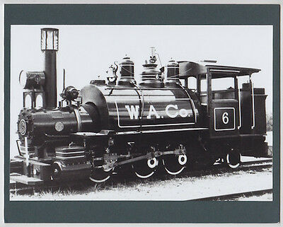 "Waialua Sugar Company #6 Oahu Hand Printed Silver Halide Photograph On 8X10"" Mat"