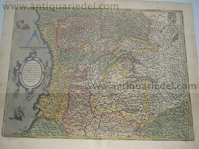 Mediolanensis ducatus, map, Ortelius, anno 1603, old colours--ORIGINAL COPPER---
