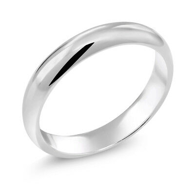 925 Sterling Silver Wedding Band Ring 3.5mm Wide