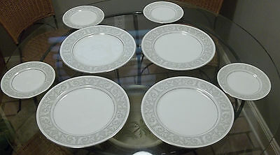 Four 4 Imperial China W. Dalton Whitney/5671 Dinner Plates & 4 Bread Plates