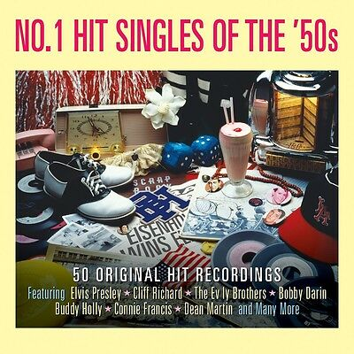 No. 1 Hit Singles Of The 50s (DAY2CD126) VARIOUS Best Of 50 Songs NEW 2 CD