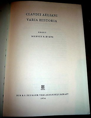 Claudius Aelianus, Aelian, Varia Historia, Roman Classical Literature In Greek