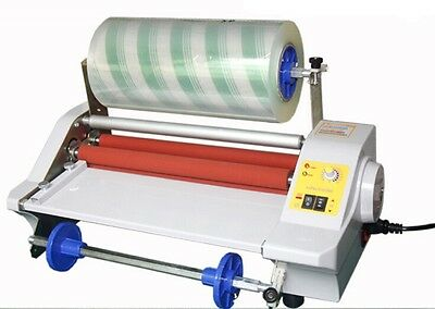 360mm Four Rollers Eight Bearings Hot and Cold Roll Laminating Machine 220V Y