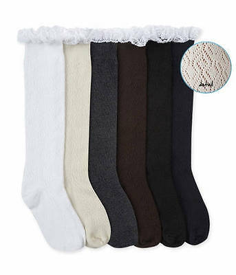 Jefferies Lace Boot Knee High Socks  Shoe Size 9-1, Age 3-7 Years