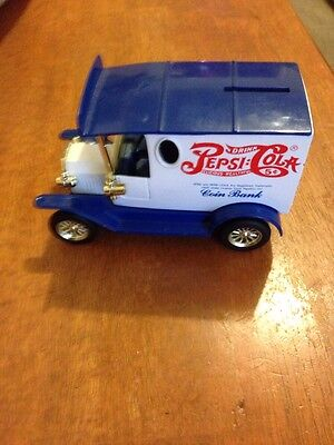 Pepsi-Cola Diecast Delivery Truck Coin Bank