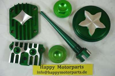 HMParts Dirt Bike Pit Bike Monkey Performance Motordeckel Set Grün
