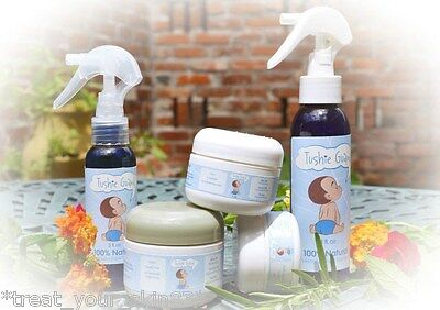 ALL-NATURAL, ORGANIC, DIAPER RASH COMBO KIT! Spray & Cream. Pick your Size!