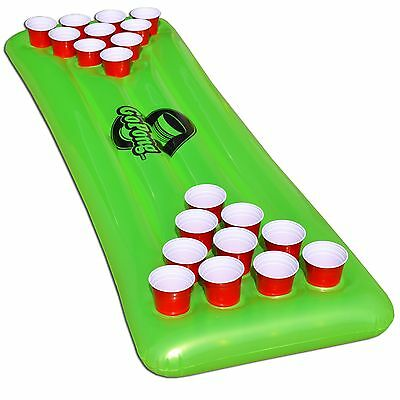 The Pool Pong Table - Neon Green - Inflatable Beer Pong Table - GoPong Brand