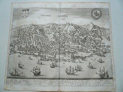 Lissabon, anno 1646, Merian M, copperengraving, scarce