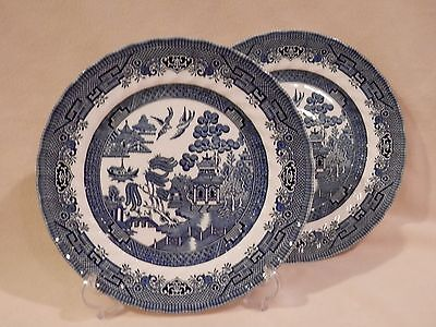 Blue Willow Scalloped by Crown Clarence Set of 2 Dinner Plate