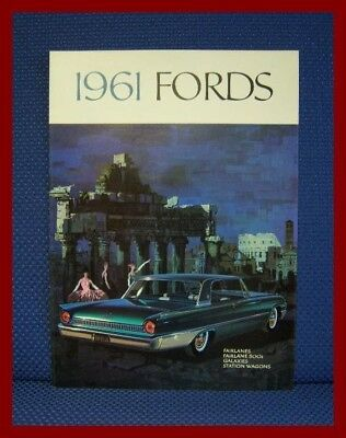 1961 FORD Automobile Color Sales Catalog Brochure - MINT New Old Stock