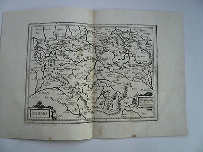 Bohemia, antiquarian map, edited  Merian Matthäus, 1650