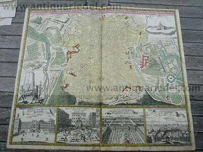 Madrid, anno 1730, Homann Heirs, old colours-scarce map