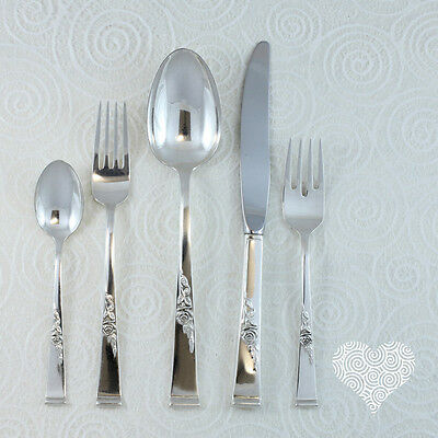 Reed and Barton CLASSIC ROSE Vintage Sterling Silver Flatware Set 188-2