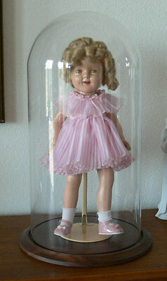IDEAL Shirley Temple Doll 18 inch with glass dome case