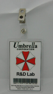 Resident Evil ID Badge-Umbrella Corporation R & D Lab