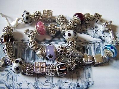 100 Genuine Sterling Silver European Beads - Hallmarked 925 WHOLESALE CLEARANCE!