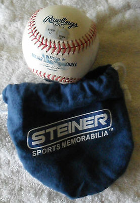 *MATCH USED* CARDINALS Vs CUBS OFFICIAL MLB BASEBALL WRIGLEY FIELD 2011 STEINER