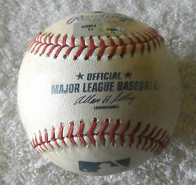 Brewers V Boston Red Sox Official Match Used Mlb Baseball Fenway Pk 2011 Coa