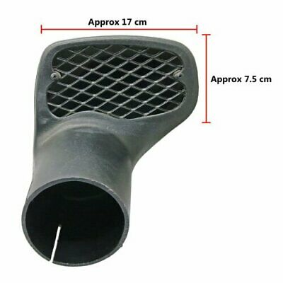 Right Hand Side Replacement LLDPE Snorkel Mesh Head Air Ram 88mm 3.5~Inches 4x4
