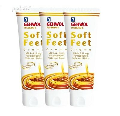 3x Gehwol Fusskraft Soft Feet Creme 125 ml