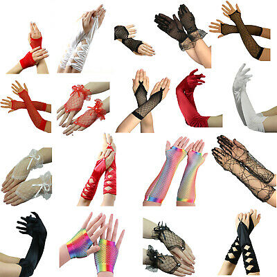 Yummy Bee Gloves Fancy Dress Lace Long Short Opera Prom Evening Wedding Women UK