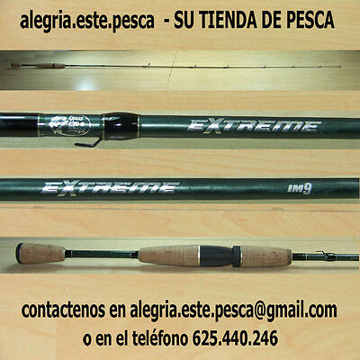 PESCA - CAÑA DE SPINNING BASS PRO SHOPS EXTREME IM-9 GRAPHITE - 1.98mts
