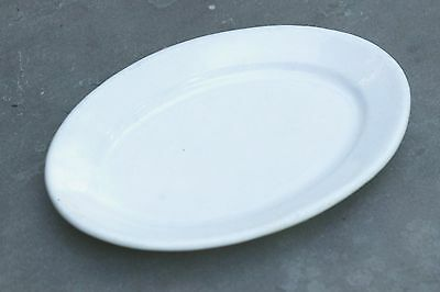 """Vintage Dense American White Ironstone Hotel Oval 10"""" Plate c. 1890-1920's"""