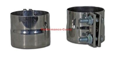 """3.5"""" Stainless Steel Exhaust Band Clamp - Diesel / Race - ID to OD - Pair"""