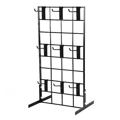 """Counter Top Gridwall Display Fixture w/ 9- 4"""" Grid Hooks"""