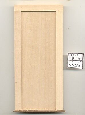 Door - Plain Interior - 541 wooden dollhouse miniature 1:12 scale Made in USA