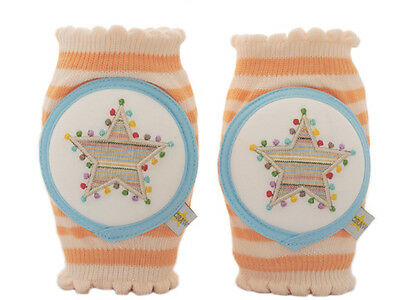 Crawlings Tangerine Star Knee Pads One Size