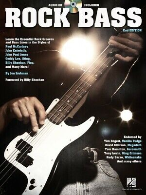 New Rock Bass Guitar Tuition Book & CD - 2nd Edition