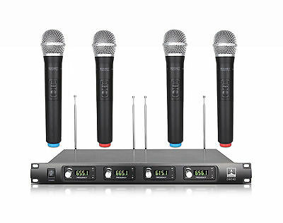 4 Channel 4 Handheld Mic PROFESSIONAL UHF WIRELESS MICROPHONE SYSTEM OD8888 4H