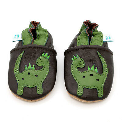 Dotty Fish Soft Leather Baby & Toddler Shoes - Dinosaur - 0-6 Months - 4-5 Years