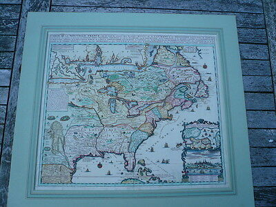 Nouvelle France/Canada, anno 1719, map, Chatelain H.,