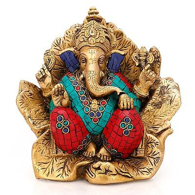 Large Ganesh Ganesha Statue Hindu Elephant Lord of Success Sculpture Figurine Nw