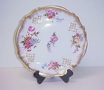 Antique Hammersley Salad Plate Dresden Flowers England