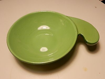 San Valle~California Ovenware~Tab Handled RETRO Green Cereal/Casserole Bowl #105