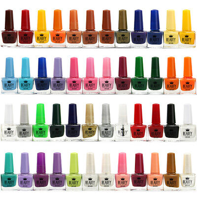 Set of 48 Bottles Nail Polish Varnish 48 Different Bright Pearl Colours 2 Boxes